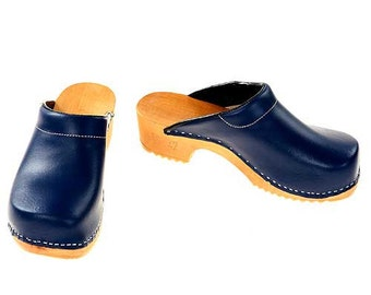Clogs blue with pad