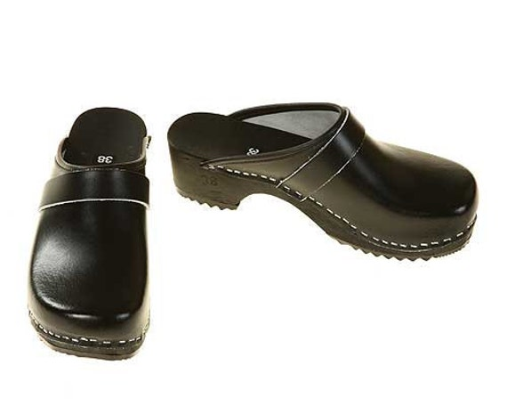 Clogs black / black sole
