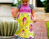 summer soiree peasant dress sizes 4T to 8