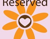 Reserved listing for carolinaot