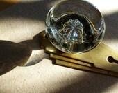 art deco doorknob faceplate set glass door knob 1930s