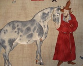 VERY RARE Uma Asian Horse Alexander Henry 1999 - 1 Yard Only - a14