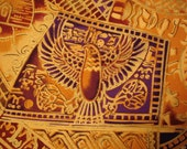 EGYPTIAN Fabric Timeless Treasures Sphinx Collection - 1 Yard - Very Rare  - #E2