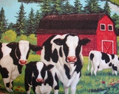 Farm Cows Patty Reed for Fabric Traditions 2006 Rare  OOP (1 YD) (KR-11)