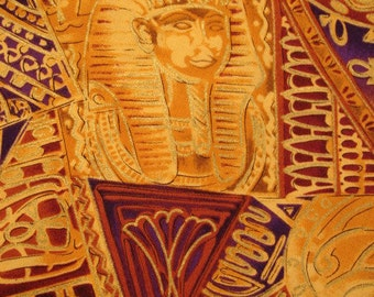 SALE 40% OFF through 8/1 - EGYPTIAN Fabric Timeless Treasures Sphinx Collection - 1 Yard - Very Rare