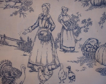 "PILGRIM FABRIC REMNANT - Alexander Henry Plymouth Toile - 24"" wide x 40"" long Piece"