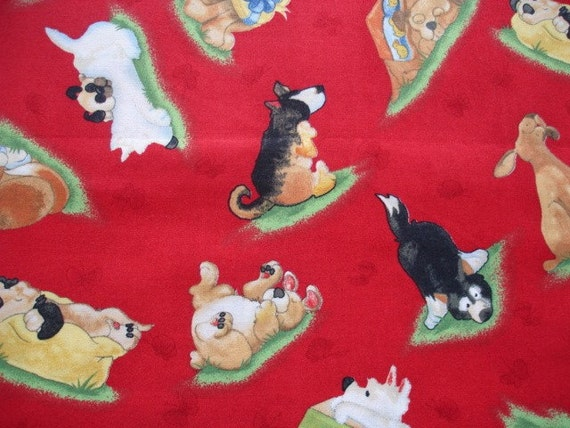 FABRIC Winky Wheeler Puppy Dreams SSI Fabric  (1 Yard) (D-3)