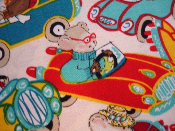 "ANIMAL FABRIC Mice Go Bump Alexander Henry 1998 - 30""x44"" Piece kr15"