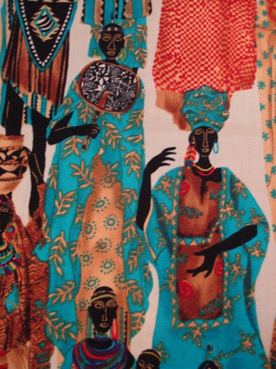 Timeless Treasures African Women Fabric Rare OOP (LAST YD)