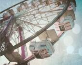 Cotton Candy Ferris Wheel - Original Fine Art 8x10 Photograph Print