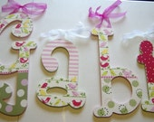 M2M POTTERY BARN KIDS PENELOPE BEDDING WOODEN WALL LETTERS