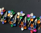 SUPERSALE Random Color Scale Flower Hair Barrettes