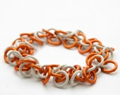 Orange Shaggy Loops Chainmail Bracelet