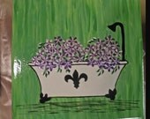 Garden Tub Wall Hanging in Bright Green