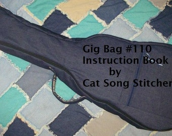 Gig Bag Sewing Instructions -custom instrument cases, guitar, autoharp, ukulele, banjo, mandolin, tennis racket case -pdf
