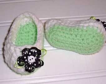 Crochet Pattern  for Two Hour Booties Slipper Preemie Infant Size