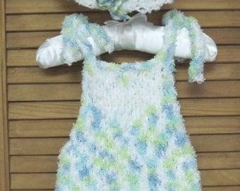 Baby's Sun Dress and Hat Knitting Pattern