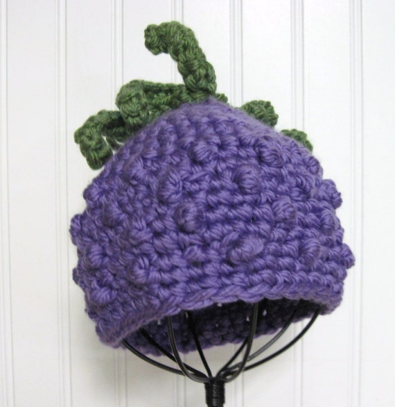 Grapes Cluster Hat Crochet Pattern