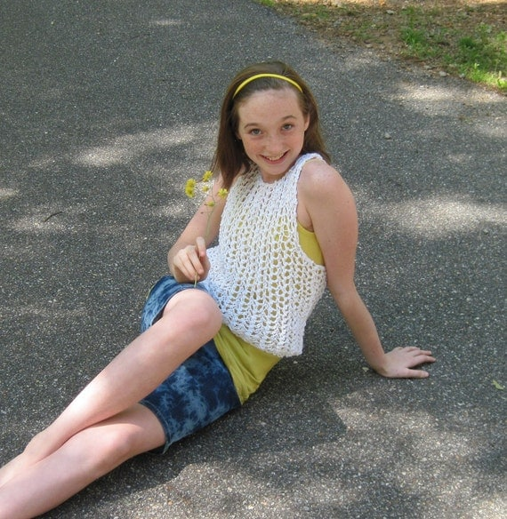 String Vest Knitting Pattern Tween To Teen From Ages 8 To