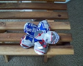 Pabst Blue Ribbon Beer Can Hair Flower