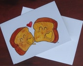 Texas Toast Love blank 5x7 card