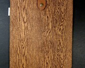 iPad padded Sleeve Case with Japanese Button Tab - Wood Grain