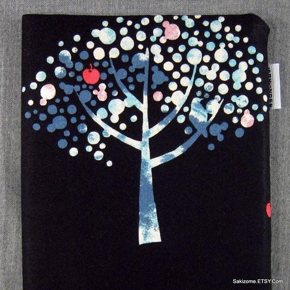 Kindle Nook Kobo Padded Sleeve - Trees (midnight)