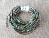 string for jewelry and fashion - green and red melange