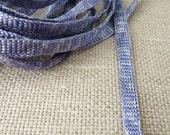 tape/string for jewelry - blue white melange