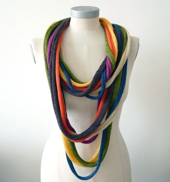 Items similar to 7 Loops necklace scarves - mix no.2 on Etsy