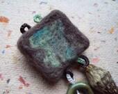 felt and silk brooch (sale)