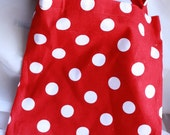 Cute Red with White Polka Dots Tote Bag