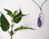 A Nettle Leaf against Evil Eye- Porcelain necklace