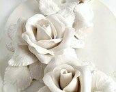 Porcelain white Roses- Traditional - Home Decor