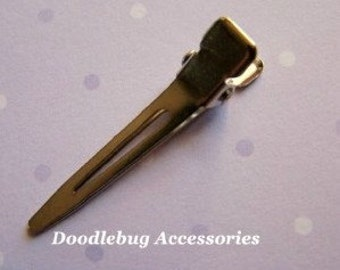 100 Mini Steel Single Prong NICKEL FREE Alligator Hair Clips 1 3/8 Inch 35mm - Great For Infant Clippies And Hair Bows