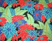 Retro Island Floral 1 yard Fabric Tropical Summer