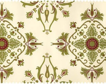 Anna Griffin Christmas Fabric - Grace Christmas Ivory - Natural Traditional Christmas - Windham Grace Christmas Fabric Anna Griffin OOP