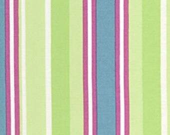 Elizabeth Stripe Green Mod Girls Sisboom Free Spirit Fabric 1 yard