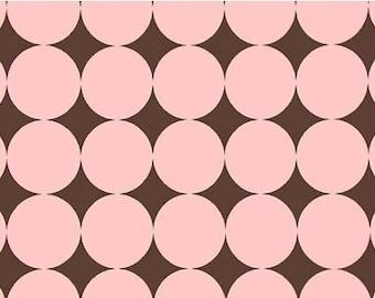 Cocoa Pink Disco Dot Michael Miller Fabric 1 yard