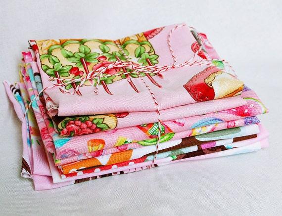 Josie Scraps Large Pack Quilt Fabric Pieces Birthday Pink Lot