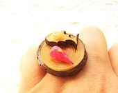 Sushi Food  Ring  Miniature Food Jewelry Traditional Japanese Food