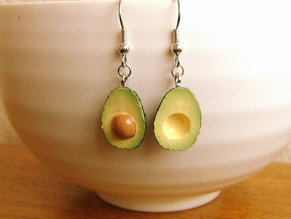 Kawaii Food Earrings Avocado