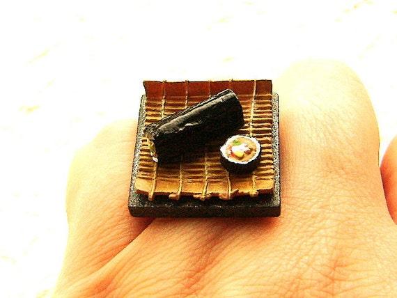 Sushi Ring Miniature Food Jewelry Making Sushi