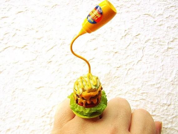 Kawaii Cute Japanese Floating Ring Hamburger By