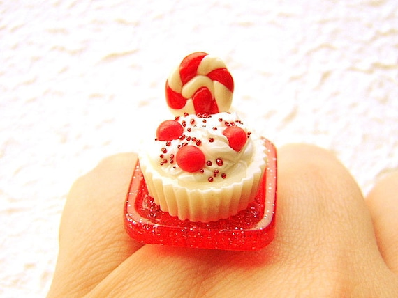 Food Ring Kawaii Ice Cream Candy Lollipop