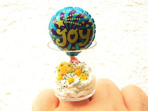 Kawaii Food Ring Vanilla Ice Cream Candy Joy  Ring