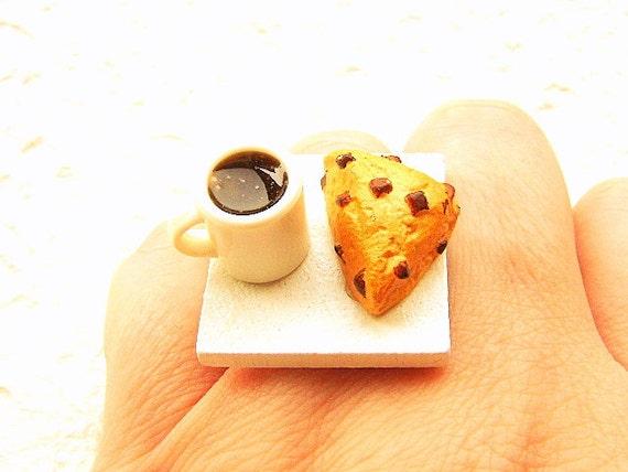 Coffee Ring Kawaii Cute Food Jewelry Chocolate By