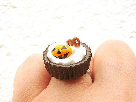 Halloween Ring Miniature Food Jewelry Ice Cream And Chocolate