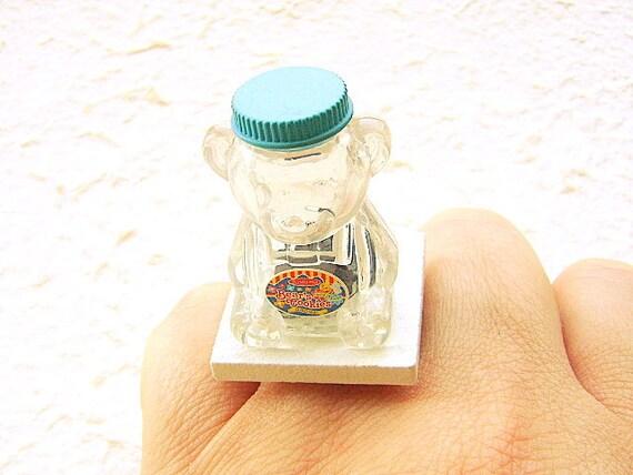 Food  Ring Miniature Food Jewelry Bear Cookie Jar