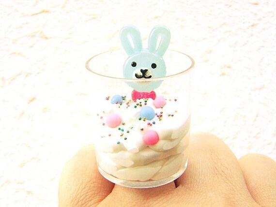 Ice Cream Ring Kawaii Food Cute Food Jewelry Rabbit